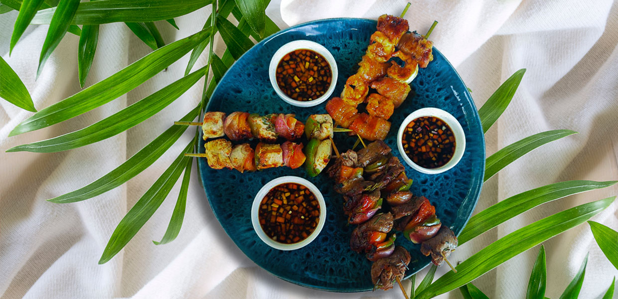 Mixed grill skewers at The Dream restaurant