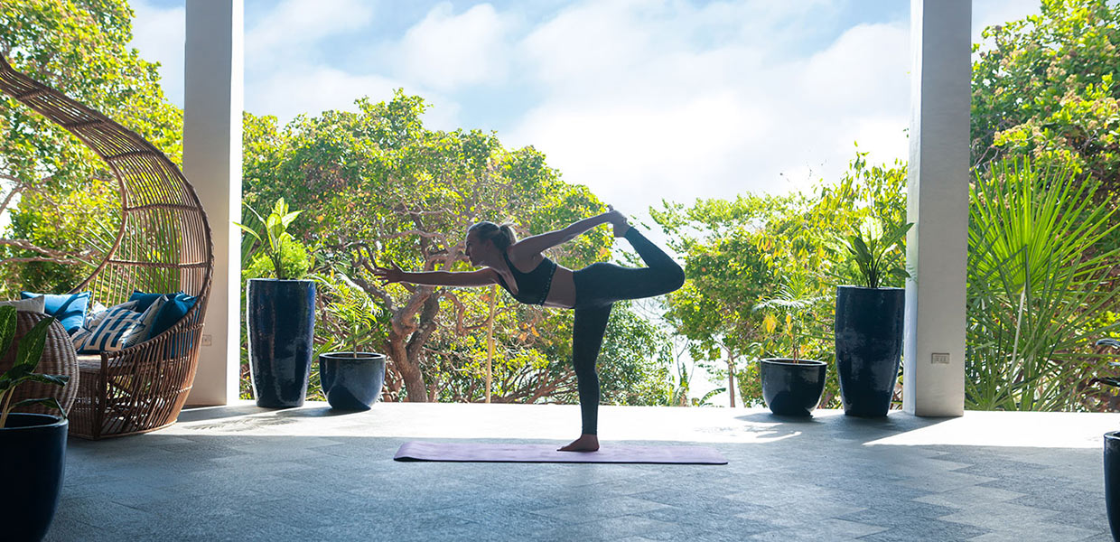 professional yoga session serene resort facilities